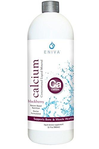 Liquid Ionic Calcium Supplement (32oz) Healthy Bones, Hair and Nails. Doctor Formulated. Zero Calories. Zero Sugar. by Eniva Health.