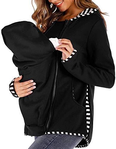 BTXX Coat Mutterschaft Kangaroo Babytragen Pullover Weiche 01.03 Schwangere Kind Sweatshirt Abnehmbarer (Size : S)