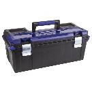 Shop Kobalt Zerust 26-in Plastic Lockable Tool Box (Black) at Lowes.com