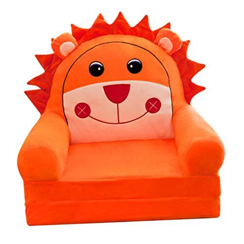 HomeDecTime Stretch Bezug Hussen Stuhlbezug Schonbezug für Kindersessel Babysessel Kinder Sessel Baby Sitz Kindermöbel - Oranger Löwe