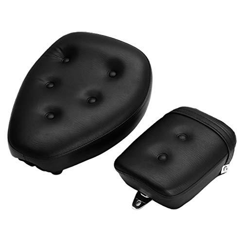 IPOTCH Asiento negro para motocicleta, asiento antideslizante de cuero PU para Yamaha Virago Xv250 1988-2013, superficie lisa y precisa
