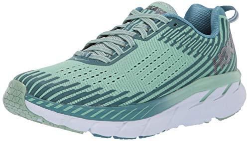 Hoka One One Clifton 5 Running Shoes Women Lichen/Storm Blue Schuhgröße US 8,5 | EU 40 2/3 2019 Laufsport Schuhe