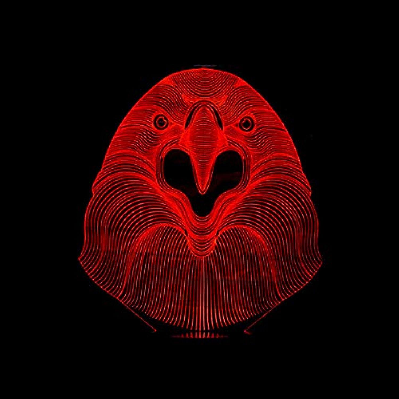 Mozhate 3D Led Bedside USB Niedlichen Adlerkopf Nachtlicht Farbe Vernderbar Atmosphre Dekor Geschenke Neuheit Lamparas Leuchten Tischlampe,Remote und berühren