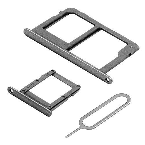 MMOBIEL Set 1 Tarjeta SIM y 1 Bandeja de Tarjeta SD Compatible Samsung Galaxy A6 A600 2018 (Negro) Incl. Sim Pin