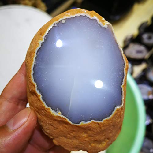 Decorative Stone 300G Rare Natural Enhydro Moving Bubble Agate Crystal Stone