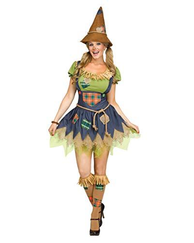 Horror-Shop Hübsche Vogelscheuche Halloween Kostüm für Damen SM