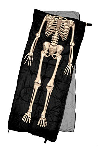 REVALCAMP Lightweight Sleeping Bag - Skeleton - Indoor & Outdoor use. Great for Kids, Teens & Adults. Ultra Light and Compact Bags are Perfect for Hiking, Backpacking, Camping & Travel.
