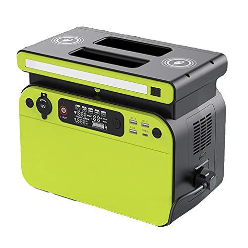 SHIN Generador Solar portátil,518Wh Estación de Almacenamiento Recargable, con Función de Carga inalámbrica Dual de 10 W, Salida USB, Tipo C, CA,para Campamento, Emergencia