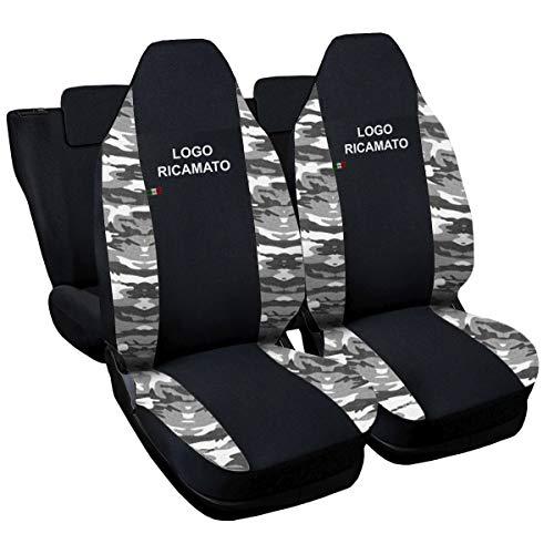 Lupex Shop aygo.b.Mch Aygo tweekleurige stoelhoezen - zwart licht camouflage