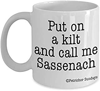 Outlander Merchandise for Women, Sassenach Mug Funny Coffee Cup Gift for Jamie Fans
