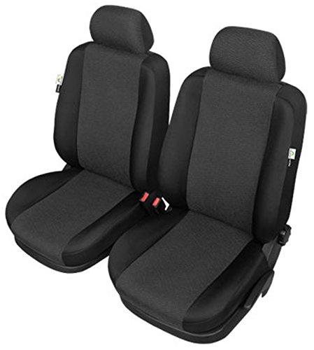 ZentimeX Z977175 Sitzbezüge Vordersitze Stoff schwarz Airbag-Kompatibel