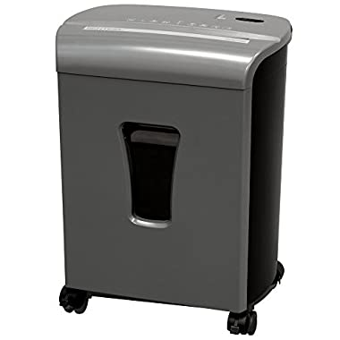 Sentinel FM101P-GUN 10-Sheet High Security Micro-Cut Paper/Credit Card Shredder with 3.5 Gallon Pullout Waste Basket Shredder