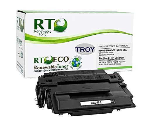 Renewable Toner Compatible MICR Toner Cartridge Replacement for Troy 02-81600-001 HP CE255A 55A P3010 P3015 P3016 M521 M525