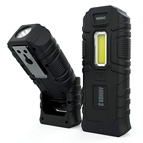 Armor3 - Linterna de trabajo indestructible impermeable flotante resistente a impactos 360 lúmenes