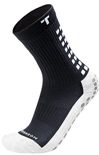 TruSox Herren Mid-calf Cushion Socken, schwarz Weiß, L EU