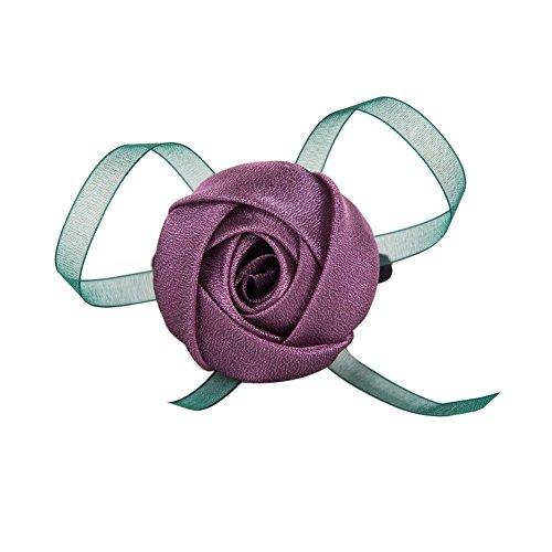 Lot de 2 bandes de cheveux Rose Motif Détenteurs Ponytail style doux Accessoires cheveux