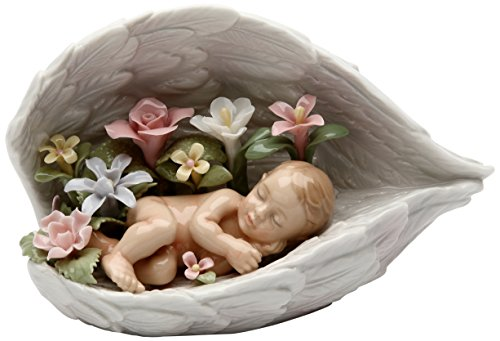 Cosmos Gifts 20846 Baby in Guardian Angel Wings Ceramic Figurine, 6-Inch