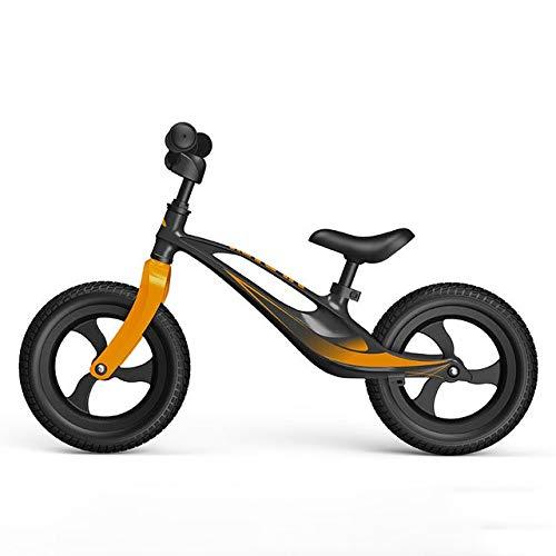LJHSS Bicicleta for Niños De 12 Pulgadas, Bicicleta De Equilibrio De Aleación De Magnesio, Andador for Bebés De 2-8 Años Sin Bicicleta De Pedal (Color : Brass)