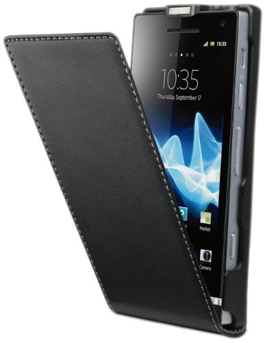 Muvit SESLI0018 - Funda para móvil Sony Ericsson Xperia P, color negro
