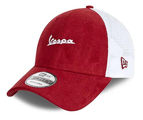 New Era - Vespa Suede 9Forty Trucker Strapback Cap - Rojo Color Rojo, rojo, Talla única