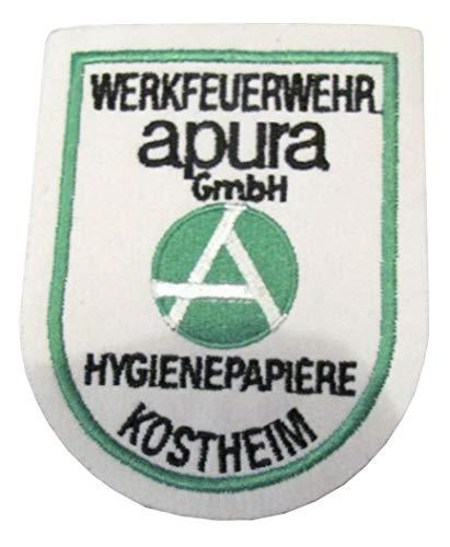 Werkfeuerwehr - Aqura GmbH - Hygienepapiere - Kostheim - Ärmelabzeichen - Abzeichen - Aufnäher - Patch - Motiv 1
