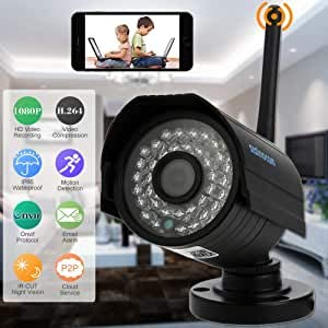 Szsinocam HD 2.0 MP Megapixel 1080p Wireless Wifi Camera CCTV Sicurezza P2P Rete IP-Cloud Indoor Outdoor Camera di sorveglianza Supporta Onvif IR-CUT Visione notturna Rilevamento di movimento
