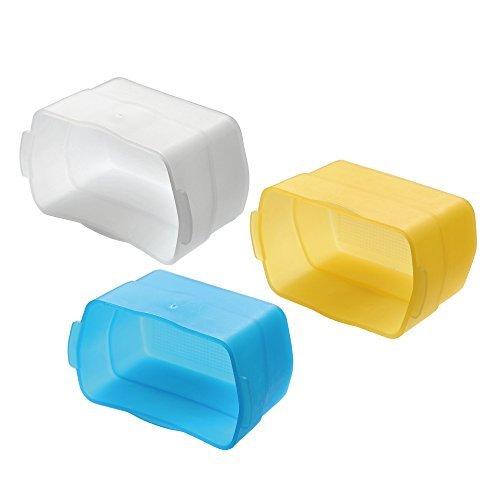 Godox Flash Speedlite Dome Diffusor Kit mit Gelb, Blau, Weiß Für Canon 580ex 580ex ii
