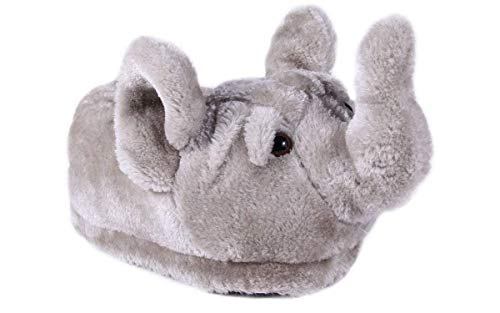 9016-3 - Elephant - Large - Happy Feet Kids and Adult Animal Slippers