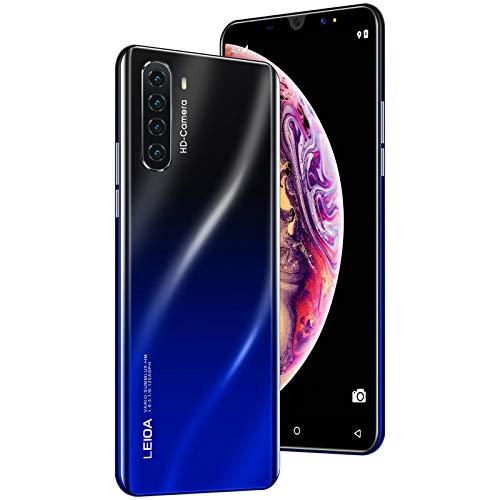 Smartphone ohne Vertrag Android 7.0 Quad-Core Handy Dual-SIM 1GB+4GB 3in1 Kartensteckplatz 5,0 Zoll Bildschirm Rückseite 4 Kamera mit 5MP Makro-Objektiv (Schwarz)