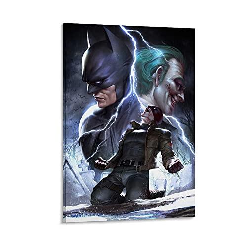 xiaogou Póster decorativo de Batman debajo de la capucha roja, lienzo para pared o sala de estar, 50 x 75 cm