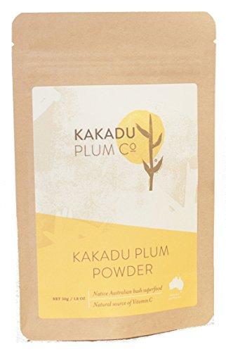 Ciruela kakadu en polvo - Superalimento australiano - La fuente de vitamina C nº1 en el mundo - Antioxidantes. Mantiene la salud y el sistema inmune. Combate los alérgenos - 1,8 oz.