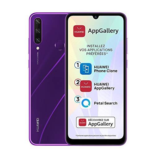 HUAWEI Y6p Smartphone débloqué (6.3 pouces 3/64go - Triple Caméra avec Capteur Principal de 13MP - Batterie de 5000mAh & AppGallery) Violet [+ bon d'achat Amazon 5 euros]