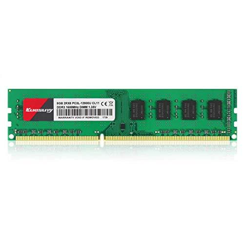 Kuesuny 8Go DDR3L 1600MHZ UDIMM PC3-12800 1.35V/1.5V CL11 2Rx8 Dual Rank 240pin DIMM Bureau Mémoire RAM Module Upgrade 8GB