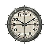 WANNA.ME Orologi da Parete, Creative Iron Art Nostalgia Clock Soggiorno Orologio da Appendere retrò (Stile: B)