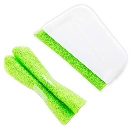 3 cepillos de limpieza de ranura de ventana, herramienta de limpieza para ventanas domésticas, pequeño cepillo de limpieza de puerta y ranura de ventana