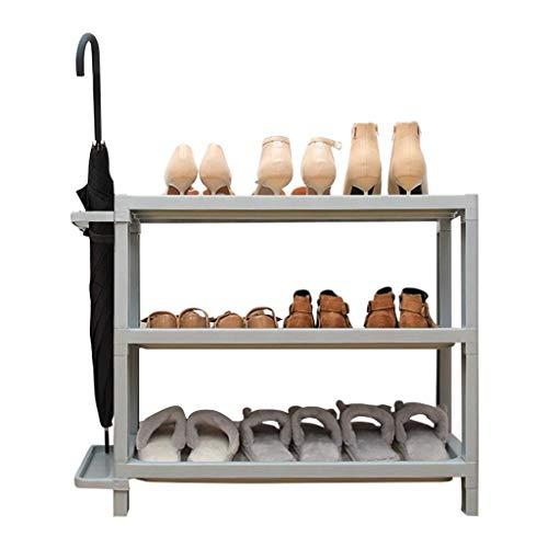 MJY Bastidores de Zapatos Organize Dormitorio de Plástico Rack Hooks Hooks Cabinete de Zapatos Recoge Sundies,Gris,3 Capas