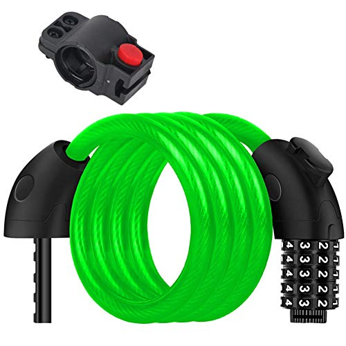 SDFHS54HD Surroundable Cable Bike Password Locks met beugel, Heavy Duty Motorcycle Anti-Theft Supplies voor Deurhek Grill
