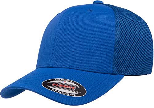 Flexfit unisex adult Flexfit Ultrafibre Airmesh Fitted Cap Hat, Royal, Large-X-Large US