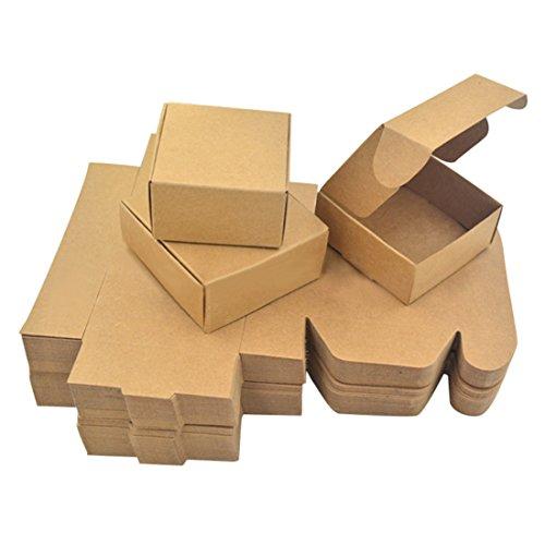 Freahap 50 Pièces Boîte à Savon en Kraft Emballage de Savon S