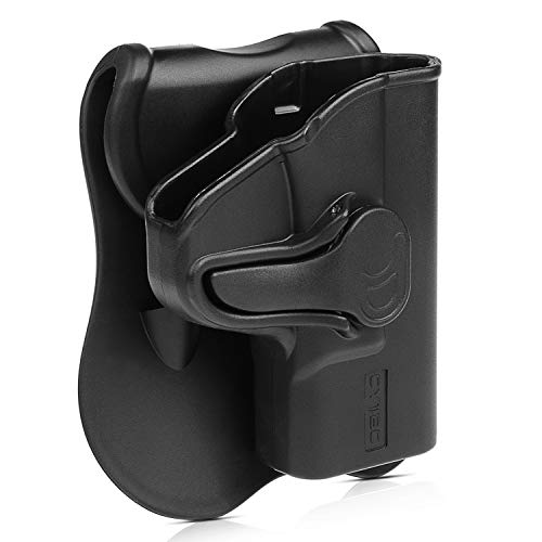 S&W MP Shield 9mm OWB Holster, Custom Molded to Fit Smith & Wesson M&P Shield M2.0 9mm .40 3.1 Inch Barrel,Outside The Waistband Paddle Holter with 360 Rotations - RH