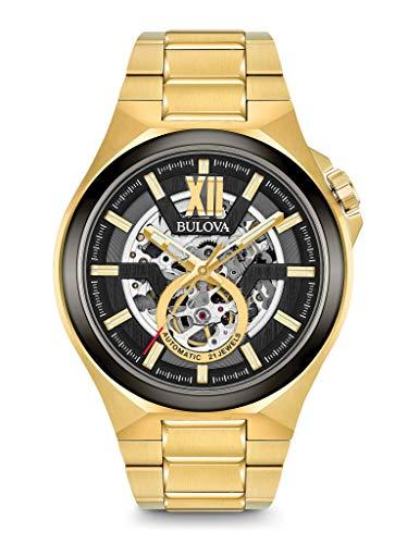 Bulova Herren Analog Automatik Uhr mit Edelstahl Armband 98A178