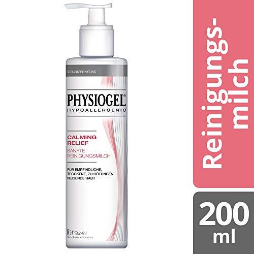 PHYSIOGEL Calming Relief Sanfte Reinigungsmilch, hypoallergen - Entfernt gründlich Make-Up und Unreinheiten, 200 ml