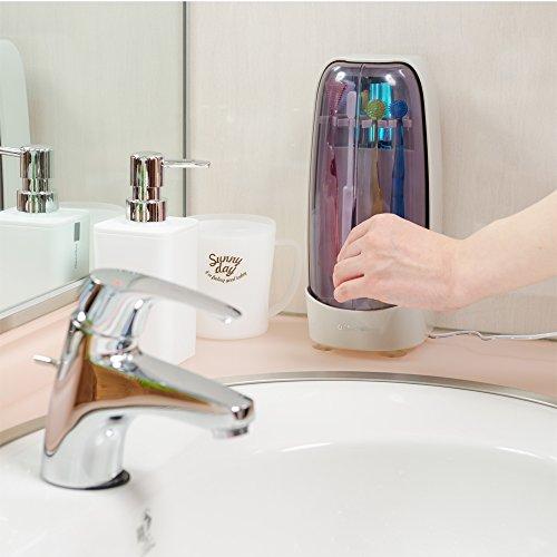オーラクリーン紫外線歯ブラシ家庭用4本対応除菌スタンドDV-451WC