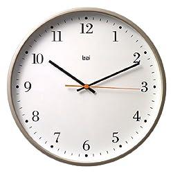 Bai 945.BO Jumbo Wall Clock, Bodoni Titanium