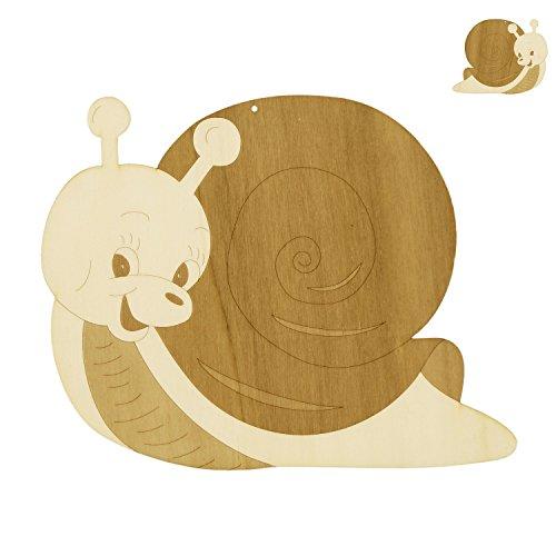 Fensterbild/Wandbild Deko süße Schnecke aus Holz beidseitig graviert