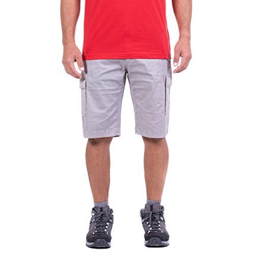 Jeep, Pantalones Cortos de algodón para Hombre con Bolsillos Laterales, Pantalones Cortos para Hombre, Efecto Viscosa Medium Grey 44