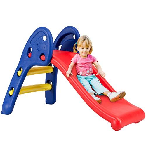 Safeplus Kids Indoor Folding Slide, Strudy & Safe Toddler Climber Freestanding Sliders Play Toys for Little Ones Baby Children Boys Girls
