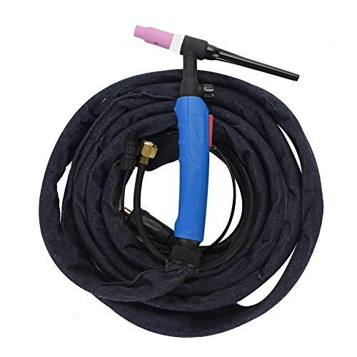 Lötfackel Tig komplett, WP-17V Lötkolben Set für Argon Raffreddad Aria 3,7m mit flexiblem Kopf, Gas Ventil