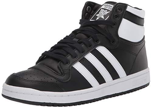 adidas Originals Boy's Men's TOP Ten HI J Sneaker, Core Black/FTWR White/Core Black, 3 UK Child