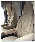 Fundas de asiento de autocaravana para conductor y copiloto. Número de color: PL405 (caramelo-beis)